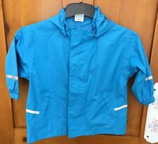 Boys Papagino Blue Raincoat Detachable Hood Size 86-92cms Mac Jacket Cagoule
