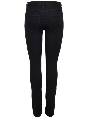 Only Damen Stretch Jeans-Look Röhre Skinny Hose schwarz Jeggings Treggings NEU