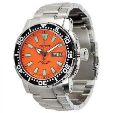 Orient Poseidon Orange 469SS040 Diver 300m Automatic Helium Valve - 2 straps!