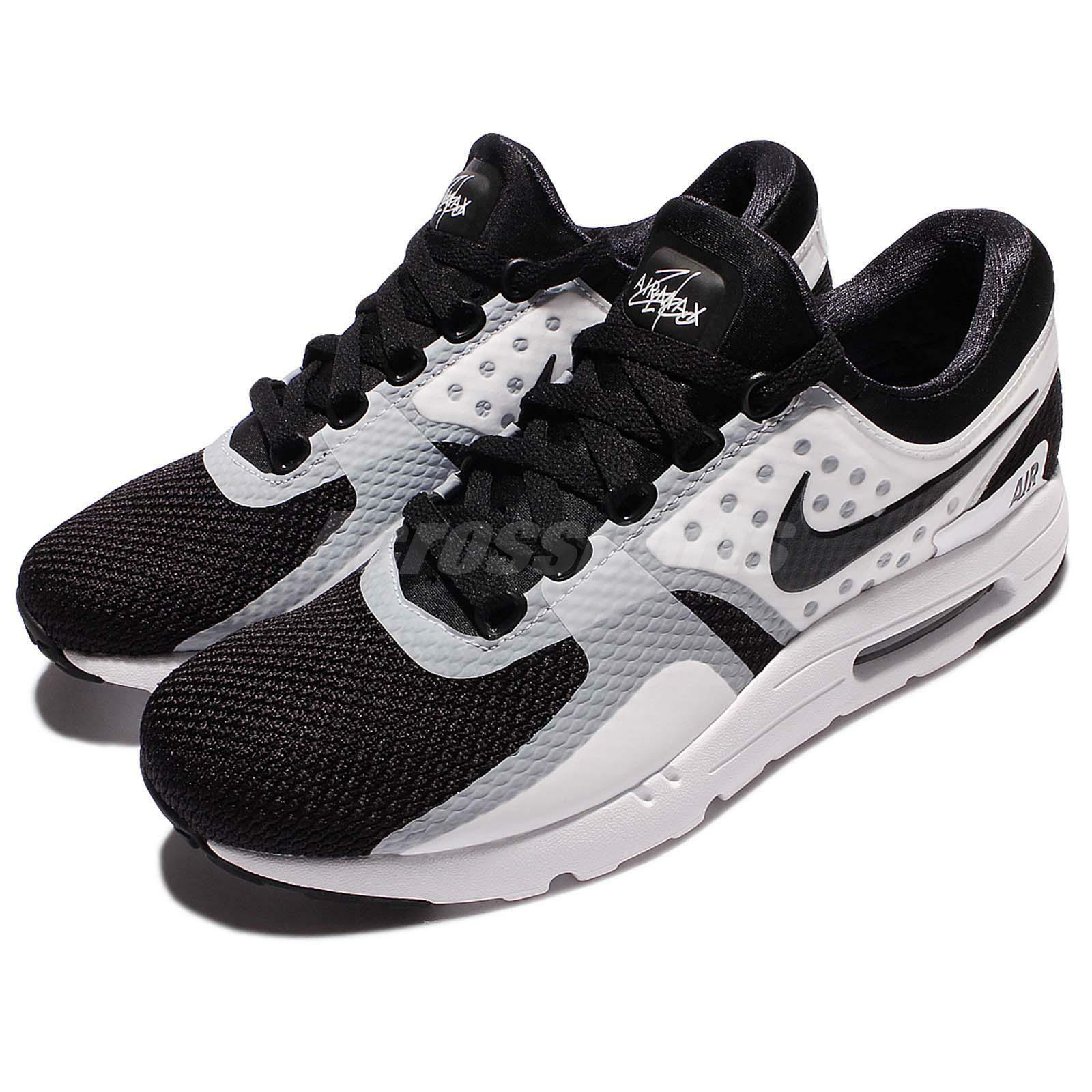 Nike air max zero nero gli uomini bianchi, scarpe da ginnastica essenziale 876070-101