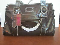 $100 Vegan Handbag Cleo Roos Dark Grey Satchel Bag Hard To Find