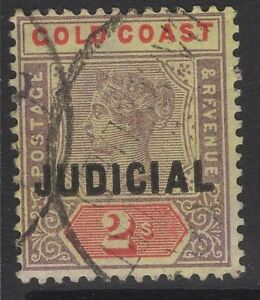 GOLD COAST Bft5 1899 2/= LILAC & RED/YELLOW USED