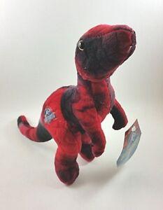 Jurassic-World-Plush-Dinosaur-Red-T-Rex-Raptor-Toy-10-039-039-Soft-NWT-Stuffed-Animal