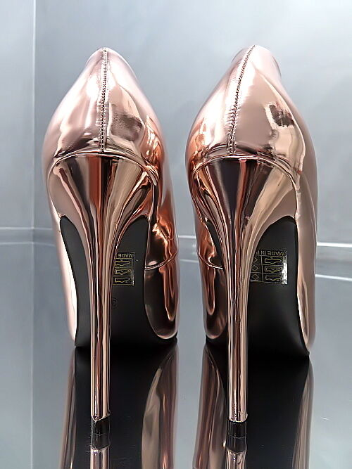 Unique Sexy Gold Neu Fashion Damen Sexy Unique Stiletto High Heels K24 Pumps Schuhe 36 c9cbba
