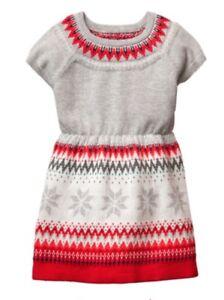 f98723294ff Gymboree Girls Nwt North Pole Party Fair Isle Holiday dress Sweater ...