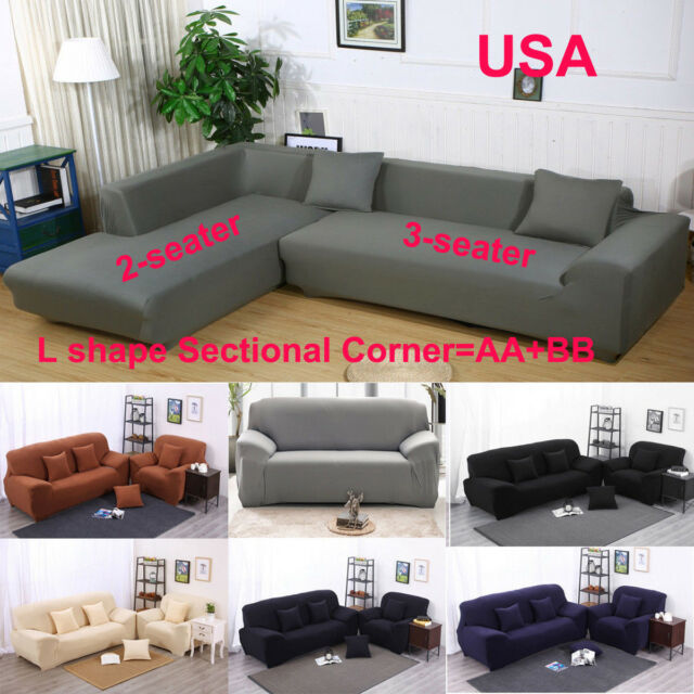 Peachy Stretch All Cover Slipcover Couch Cover For 1 2 3 Seater Sectional Corner L Sofa Gmtry Best Dining Table And Chair Ideas Images Gmtryco