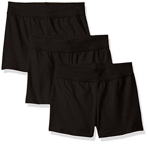 Hanes Womens Activewear Little Girls Jersey Short (Pack of 3) M