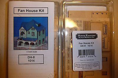 1/144th or N scale Miniature Dollhouse Wood Fan House Kit by NorthEastern