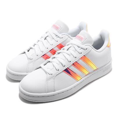 adidas grand court white pink iridescent women classic