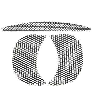 Black-Honeycomb-Mesh-Fairing-Top-amp-Side-Vent-Screen-For-Harley-Road-Glide-15-18
