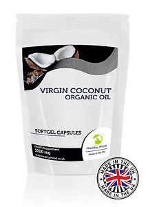 Coco-Virgen-Aceite-1000mg-Suplemento-Salud-30-60-90-120-180-Capsulas