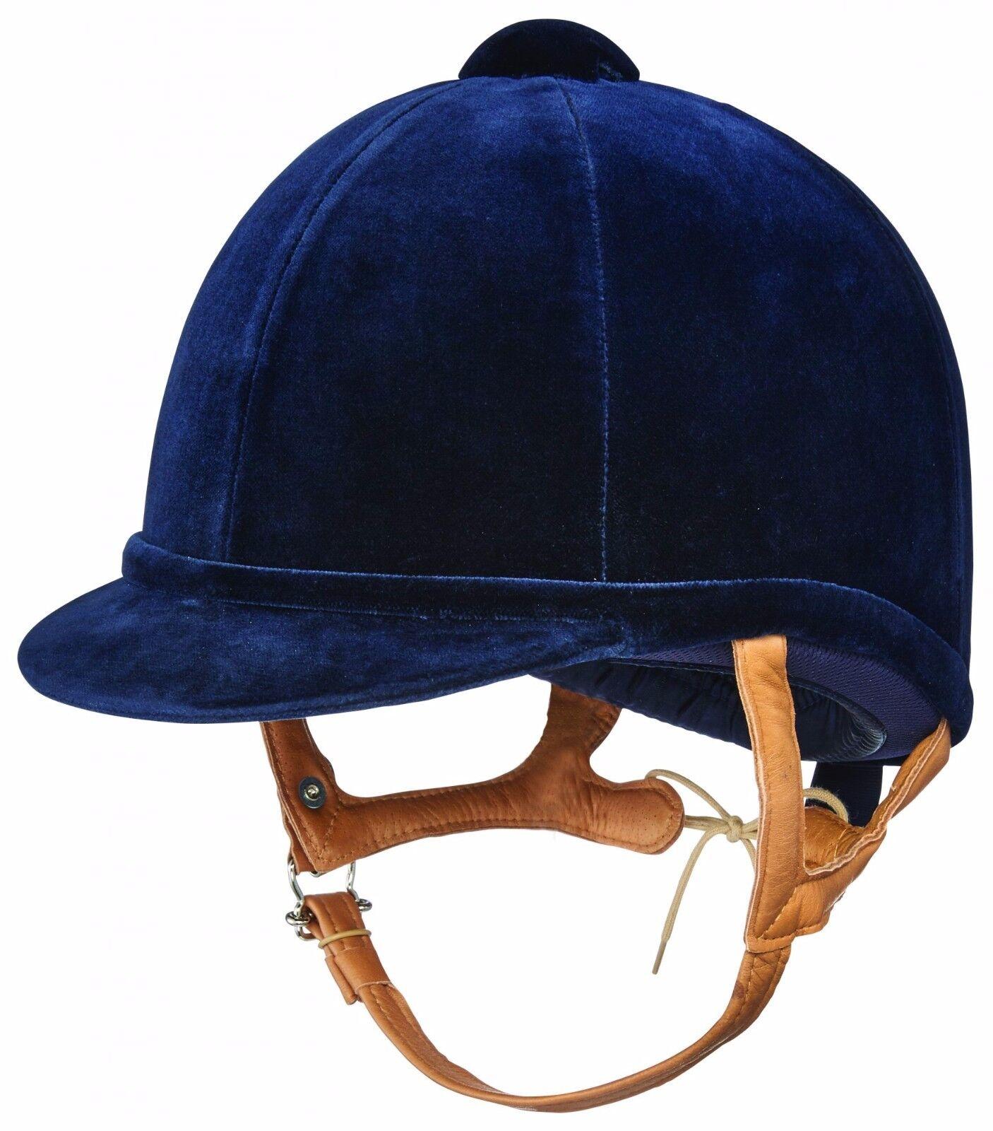 Charles Owen FIAN Azul MarinoTerciopelo Equitación Sombrero ideal para mostrar