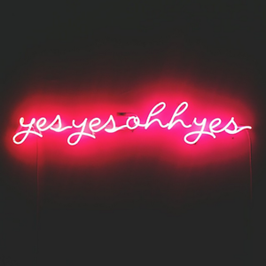 """New Yes Yes Ohh Yes Pink Poster Acrylic Neon Light Sign 24/"""""""