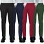 Pantalone-Uomo-Slim-Fit-Chino-Invernale-tasca-america-Cotone-Blu-Nero-Verde miniatura 1