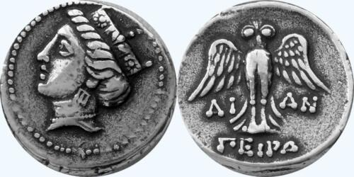Tyche Goddess of Luck and Fortune Greek Coins Greek Mythology 6-S