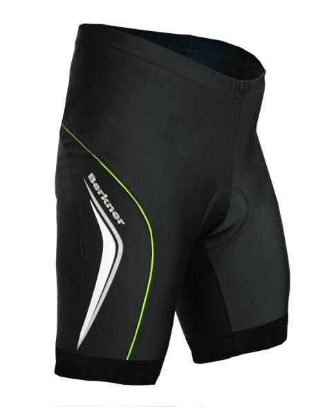 Berkner Derek Fahrradhose Radlerhose mit Einsatz Sitzpolster schwarz - grün