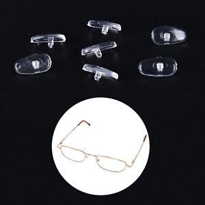 50-pares-Almohadillas-de-nariz-Silicona-Ovaladas-Atornilladas-Gafas-Anteojos