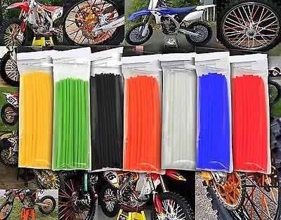 Goofit 72pcs Blanc Couvre Rayons Moto Spokes Skins Set Protections Pour Roues Et Couleurs Protections Roues Jantes Motocross Cover VTT V/élo Vert