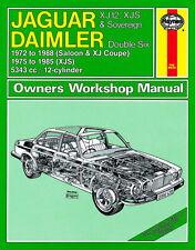 0478 Haynes Jaguar XJ12, XJS and Sovereign & Daimler Double Six Workshop Manual