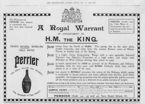 1904-Antique-Print-ADVERTISING-Perrier-French-Natural-Sparkling-Water-115