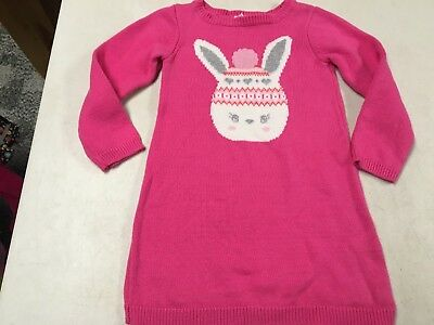 Toddler Girl Size 3 3T Gymboree Pink Cable Knit Long Sleeve Sweater Dress