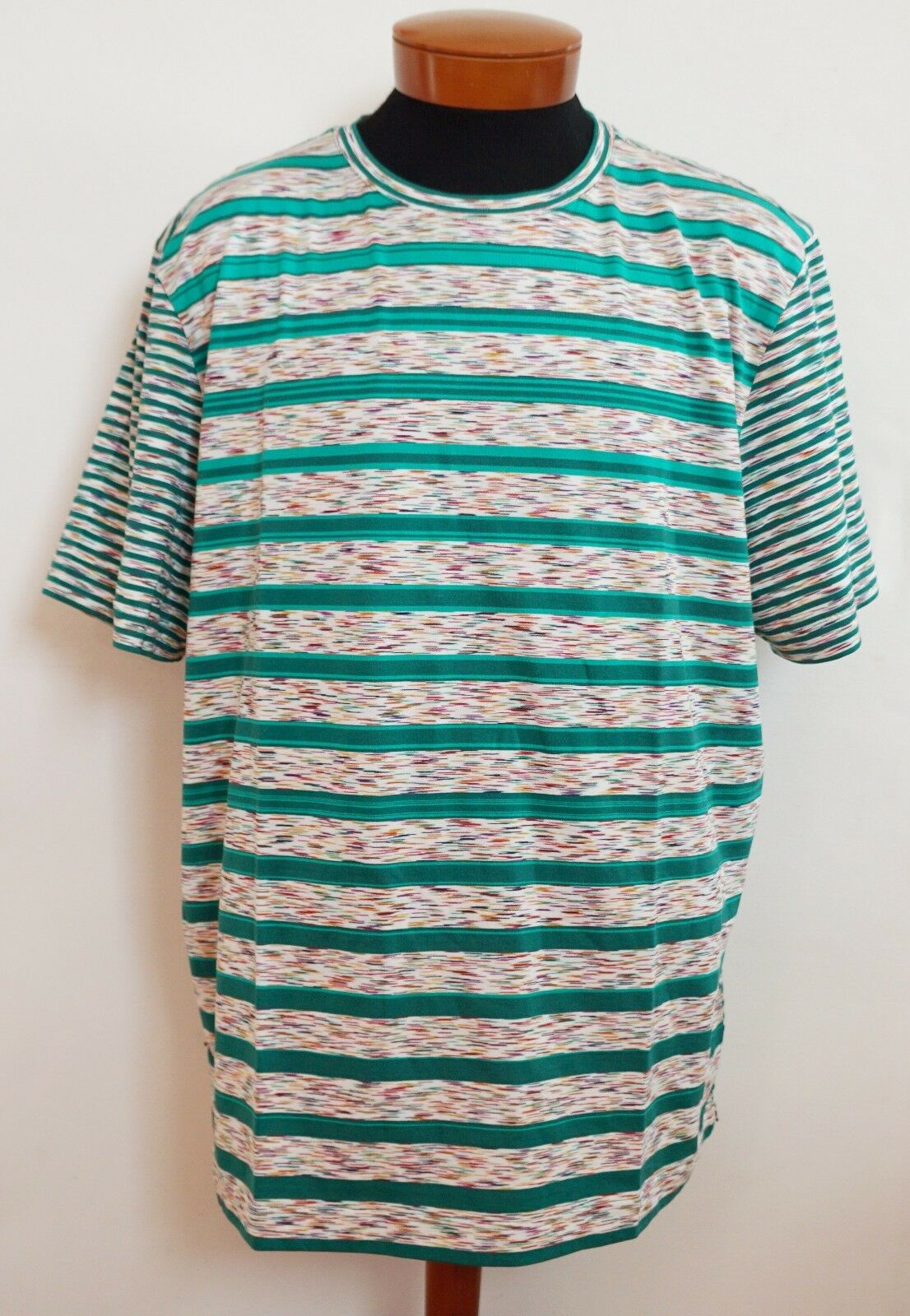 NWT Authentic MISSONI Multi-colord 100% Cotton Short-Sleeve T-Shirt Top XXL 2XL