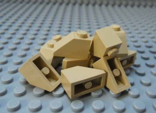 LEGO Tan Slope 1x2 45 degree Lot of 12