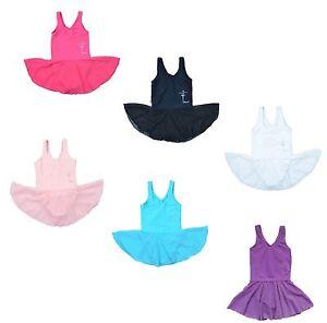 Girls-Kids-Gymnastics-Dance-Dress-2-14-Ages-Ballet-Tutu-Training-Wear-Leotard