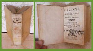 Letteratura-L-AMINTA-di-Torquato-Tasso-ROMA-1700-RARA-EDIZIONE