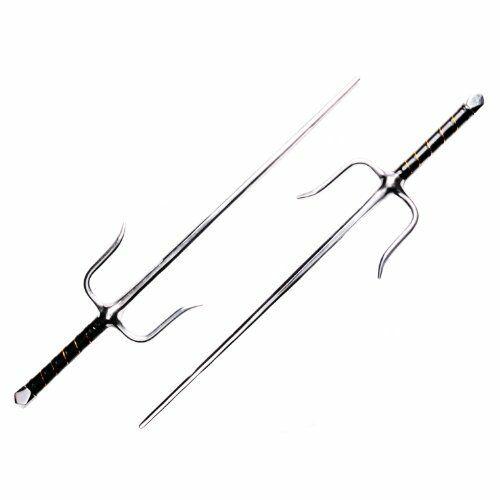 DEPICE Training Weapons w-sao Set of 2 Octagonal Profile Sai  Chrome  acquisti online