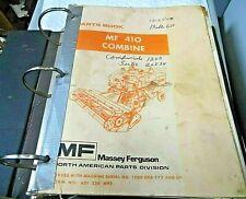 Massey Ferguson Mf 410 Combine Parts Book Catalog Manual
