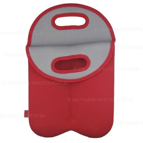 Wiederverwendbare Neopren Kühltasche isoliert Wasser Wein Flaschenkühler NEU+OVP