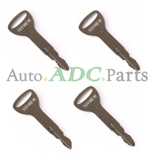 4 Ignition Keys A62597 New Style for Toyota Forklift /& Equipment