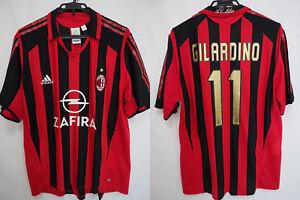 Details about 2005-2006 AC Milan Rossoneri Jersey Shirt Maglia Home ZAFIRA Gilardino #11 XL