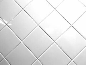 White 4x4 Shiny Glossy Finish Ceramic Tile Backsplash Wall