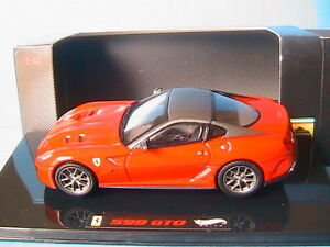 FERRARI-599-GTO-2010-RED-amp-GREY-HOTWHEELS-ELITE-T6267-1-43-ROUGE-ET-GRISE-ROSSO