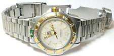 TAG HEUER 4000 2T Professional 18K gold Mens 42mm SWISS DATE 200m WR, WF1120-0