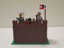 Lego Custom WESTERN AMERICAN CIVIL WAR CONFEDERATE FORT w/ 3 Soldiers Minifigs