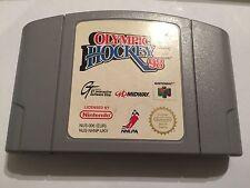 UK/EURO PAL NINTENDO 64 N64 GAME CARTRIDGE OLYMPIC (ICE) HOCKEY 98 / 1998 NAGANO