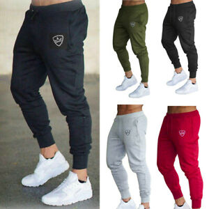 Mens-Tracksuit-Sport-Gym-Slim-Fit-Skinny-Jogging-Joggers-Sweat-Pants-Trousers-US