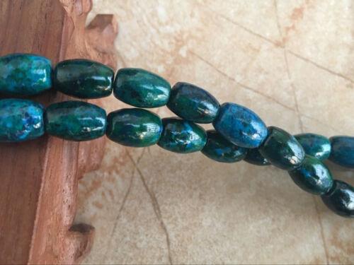 8x12mm Azurite Chrysocolla Round Gemstone Loose Bead 15/'/'
