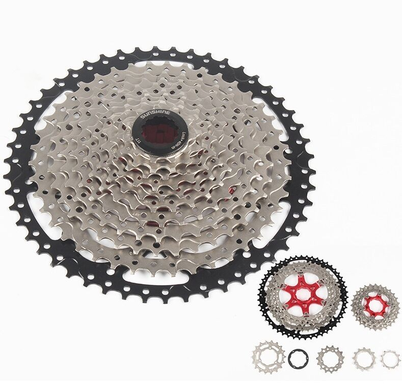 SUNSHINE MTB Bicycle 11 Speeds 11-50T Cassettes Road Mountain  Bike Cassette 570g  cost-effective