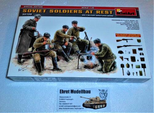 WWII Russische Soldaten bei der Rast soviet Soldiers at Rest 1:35 MiniArt 35109