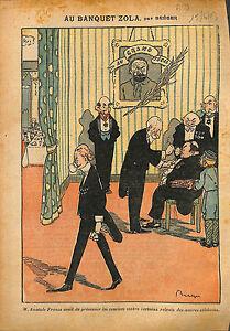 Caricature-Politique-Convives-Banquet-Zola-d-039-Anatole-France-1913-ILLUSTRATION
