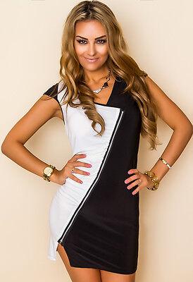 PROGRESS Kleid mit Zipper Zipperkleid Partykleid Abendkleid  XS, S (34, 36)