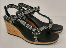 6cba1494b5cd item 6 Women s Teva Arrabelle Universal Wedge Sandal Black White Adjustable  Straps 8.5 -Women s Teva Arrabelle Universal Wedge Sandal Black White  Adjustable ...