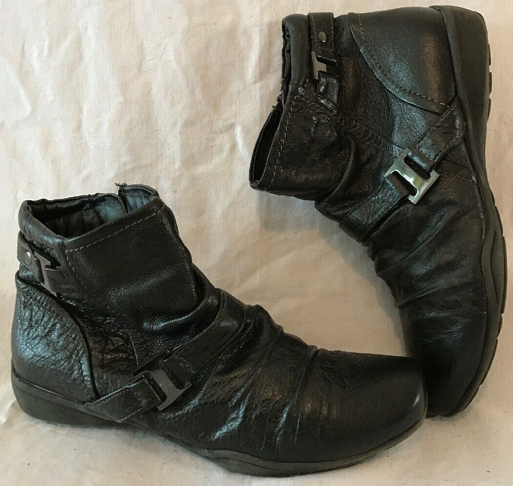 TU Black Leather Ankle BOOTS Size 5 for