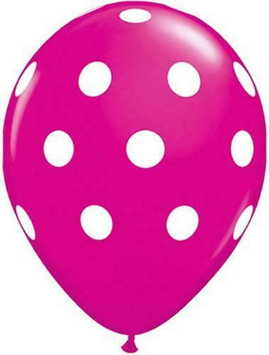 environ 27.94 cm Wild Berry Rose Gros Pois Qualatex 11 in Latex Ballons