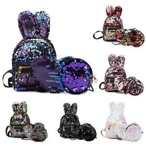 3pcs-set-Women-Girl-Sequins-Backpack-Travel-School-Satchel-Shoulder-Bag-Ruckrack