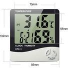 LCD Digital Thermometer Hygrometer Indoor Temperature Humidity Meter Clock